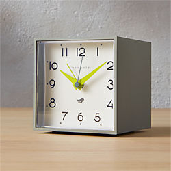 Newgate ® cubic grey and white alarm table clock