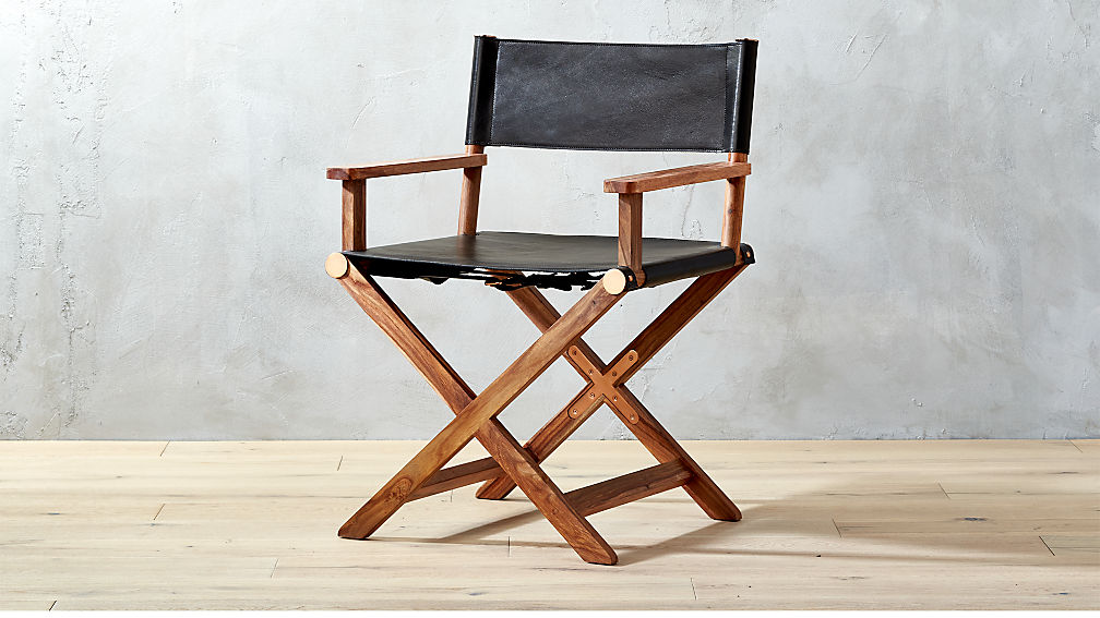 curator black leather directors chair bedroom furniture cb2 peg