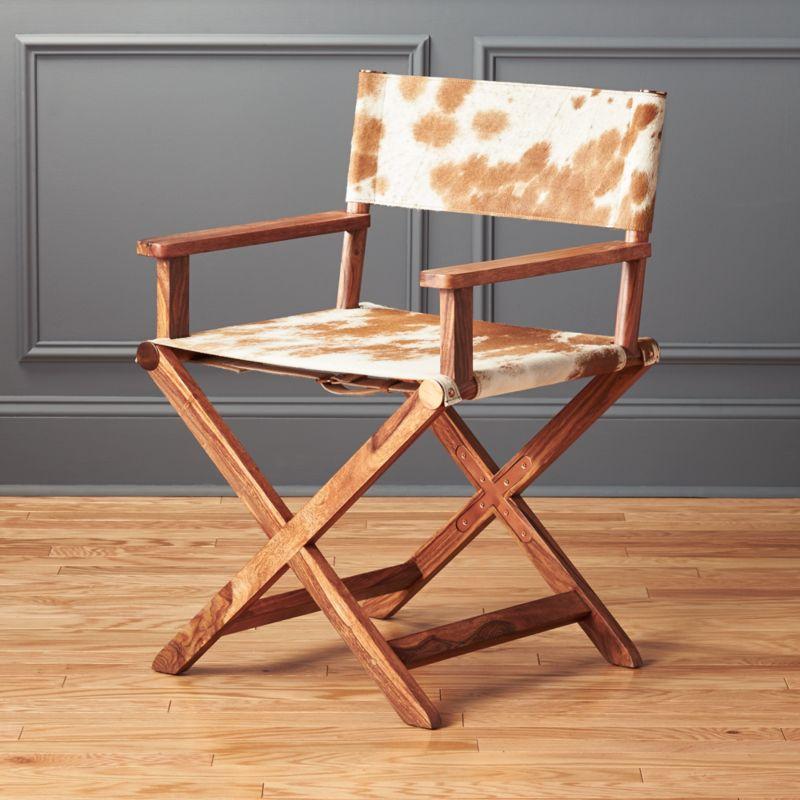 curator cowhide directors chair bedroom furniture cb2 peg