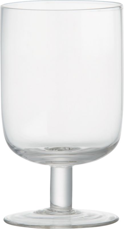 curve short clear wine glass