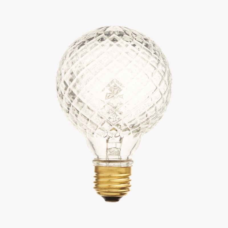 cut glass halogen 45W light bulb