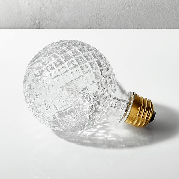 Cut Glass Halogen 40w Light Bulb Cb2