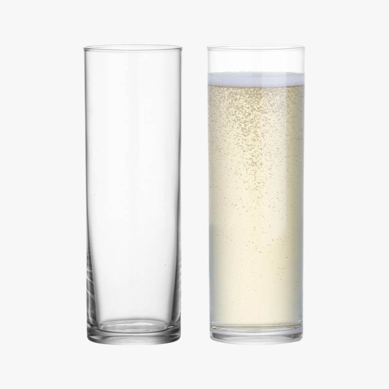 cylinder clear champagne flute