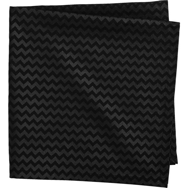 dab linen black napkin
