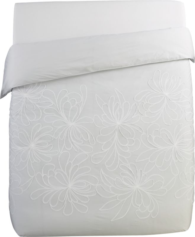 dahlia flower full/queen duvet