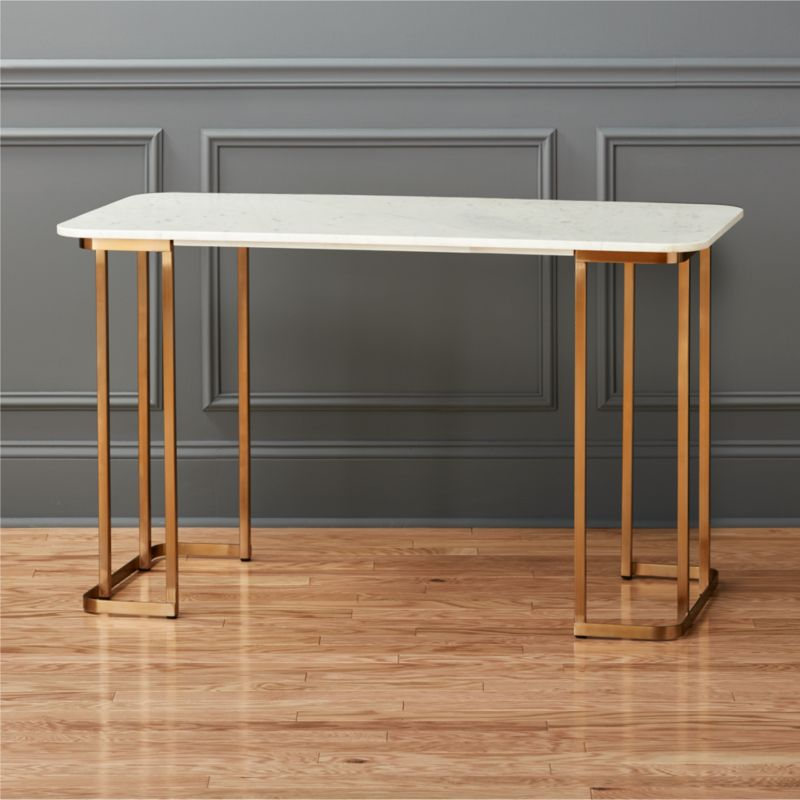 Dahlia Marble Desk Cb2