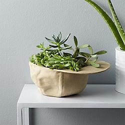 stoneware hat planter