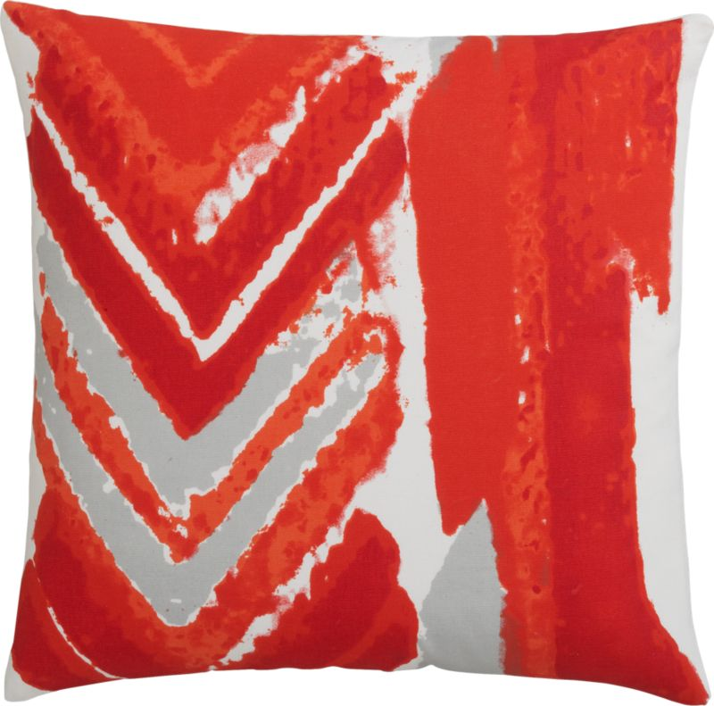 "dart 18"" pillow with feather-down insert"