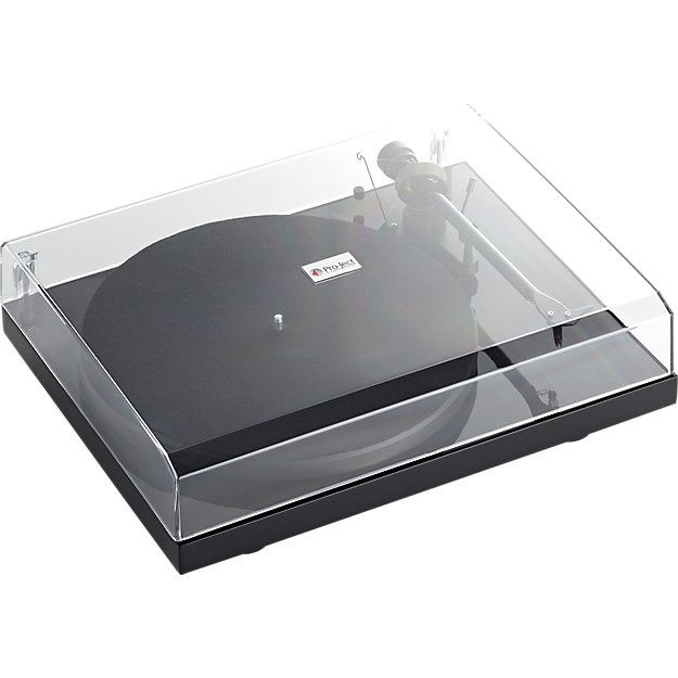 debut carbon black turntable