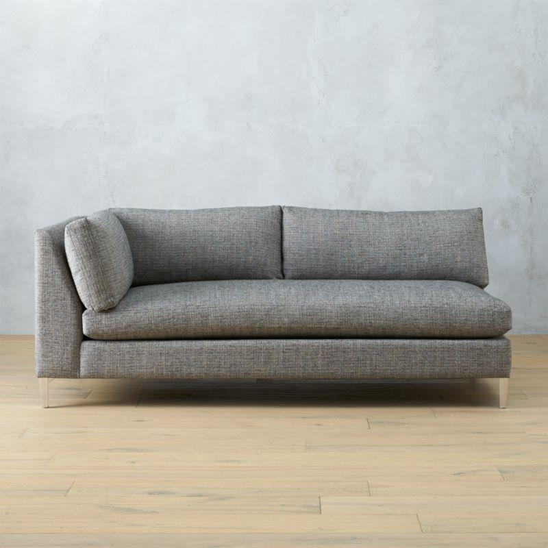 Decke Couch: Decker Left Arm Sofa Lexi: Salt And Pepper