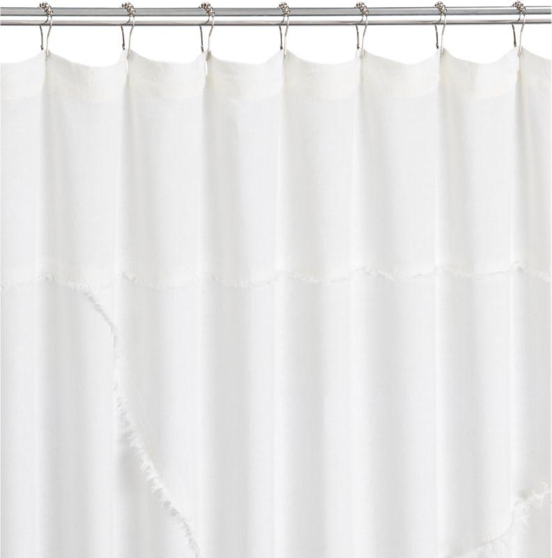 deconstructed linen shower curtain