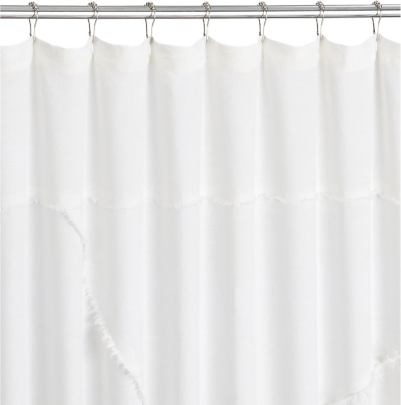 deconstructed linen shower curtain
