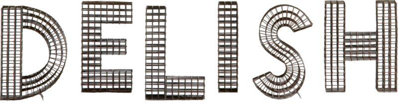 6-piece delish wire letter set