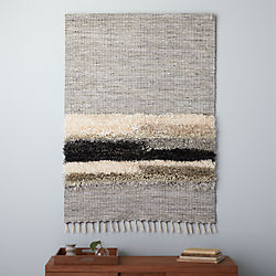 dhurrie stripe wall hanging