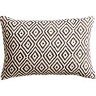 "diamond lattice 18""x12"" pillow with feather-down insert."