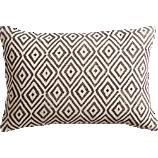 "diamond lattice 18""x12"" pillow with down-atlernative insert"