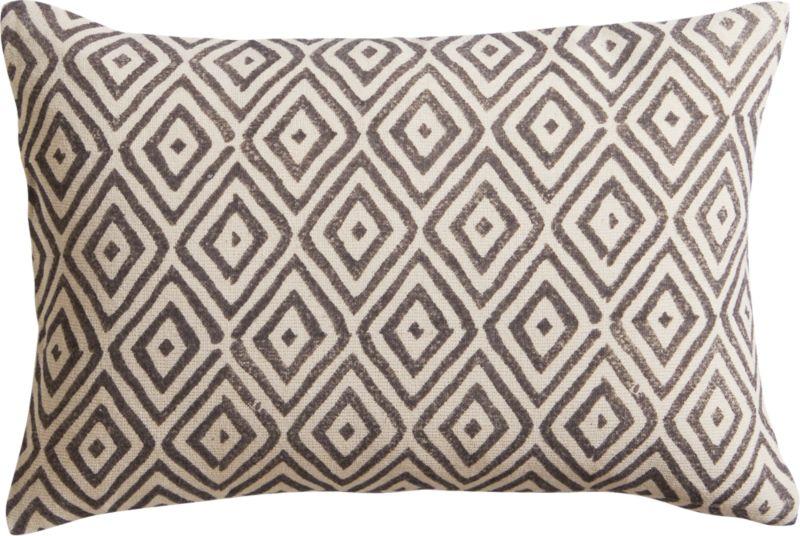 "diamond lattice 18""x12"" pillow"