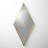 "diamond brass 21.75""x45"" wall mirror"