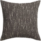 "diamond weave brown 18"" pillow with down-alternative insert."