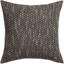 "diamond weave brown 18"" pillow"