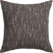 "diamond weave brown 18"" pillow"