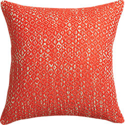 "diamond weave red-orange 18"" pillow"