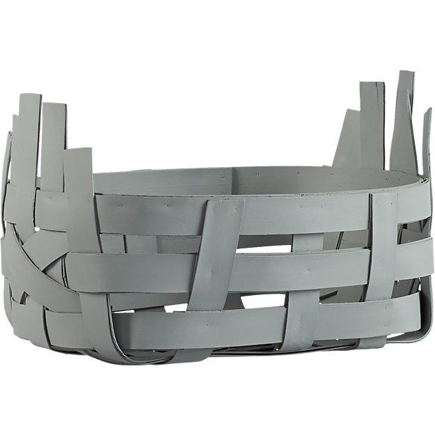 digit small silver grey basket