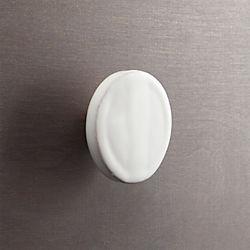 tempe white disk knob