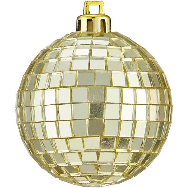 gold disco ball ornament