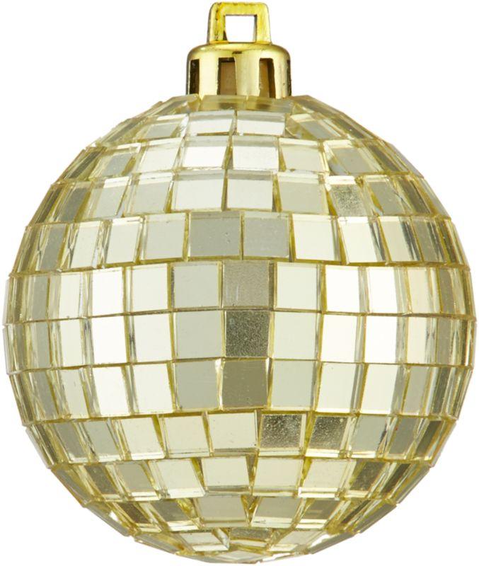 disco ball gold ornament