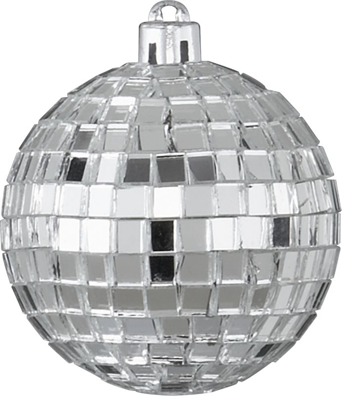 silver disco ball ornament