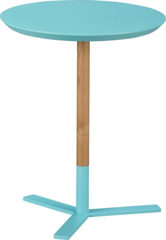 discus aqua side table