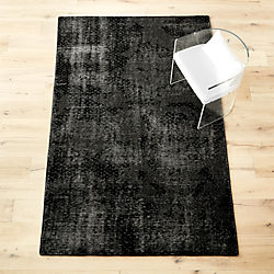 the hill-side disintegrated floral grey rug
