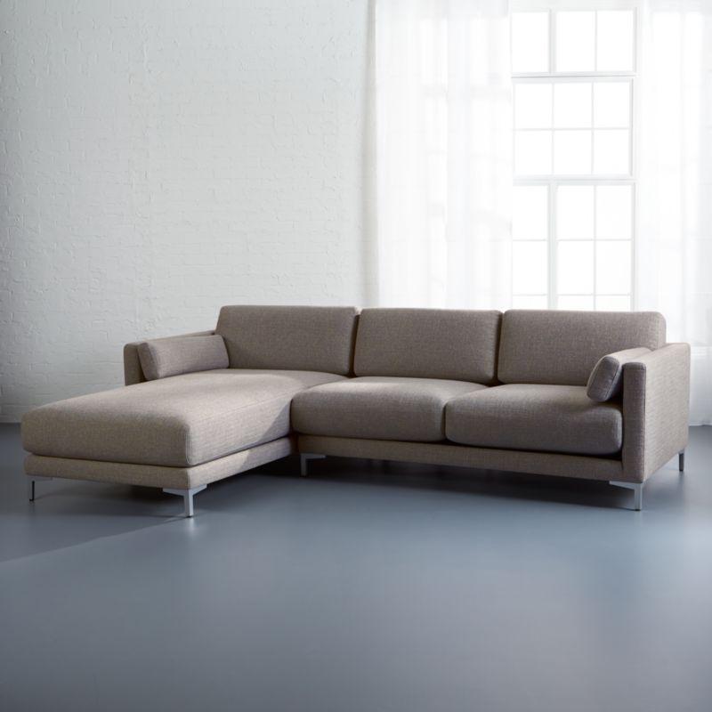 District 2 Piece Grey Sectional Sofa: District 2-piece Sectional Sofa Vibe: Smokey