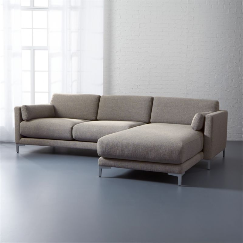 District 2 Piece Sectional Sofa Vibe Smokey CB2