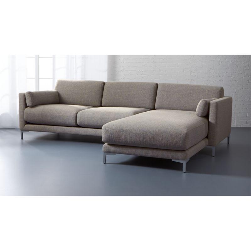 District 2 Piece Grey Sectional Sofa: District 2-piece Sectional Sofa