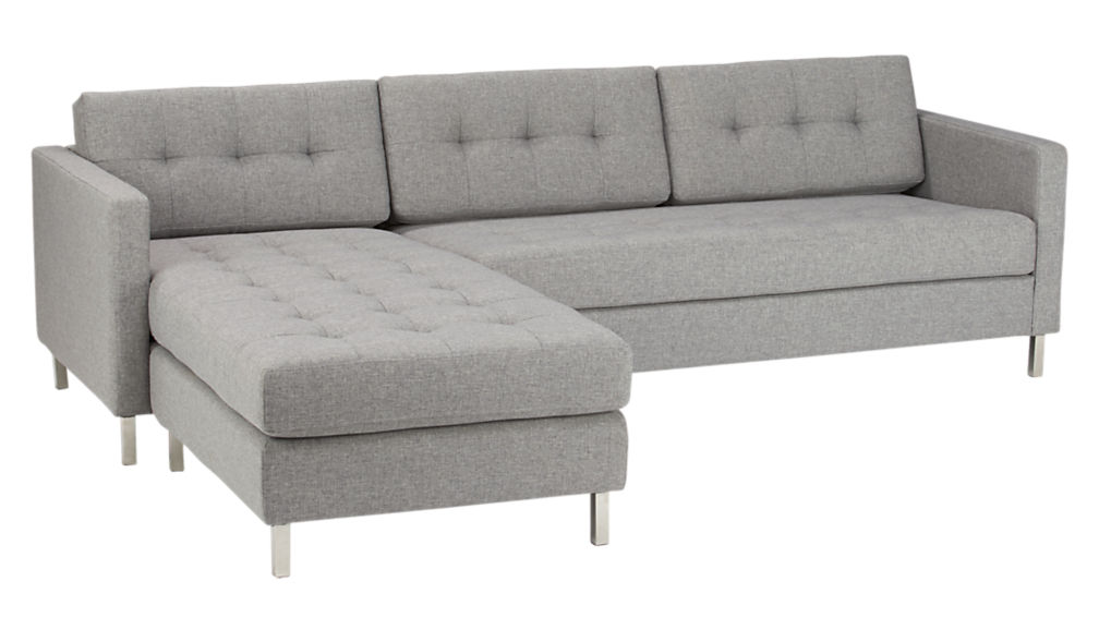 Ditto Ii Grey Sectional Sofa Taylor Grey Cb2
