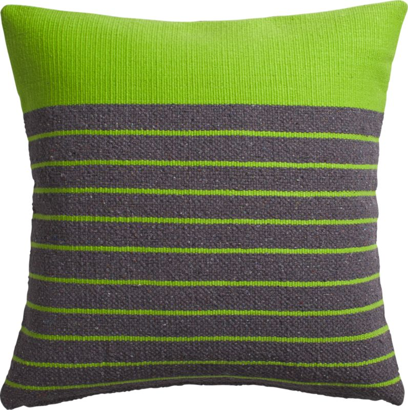 "division green 20"" pillow with feather insert"