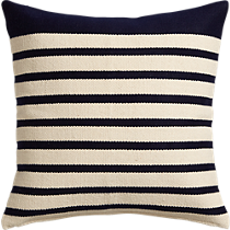 """division navy 20"""" pillow with down-alternative insert"""