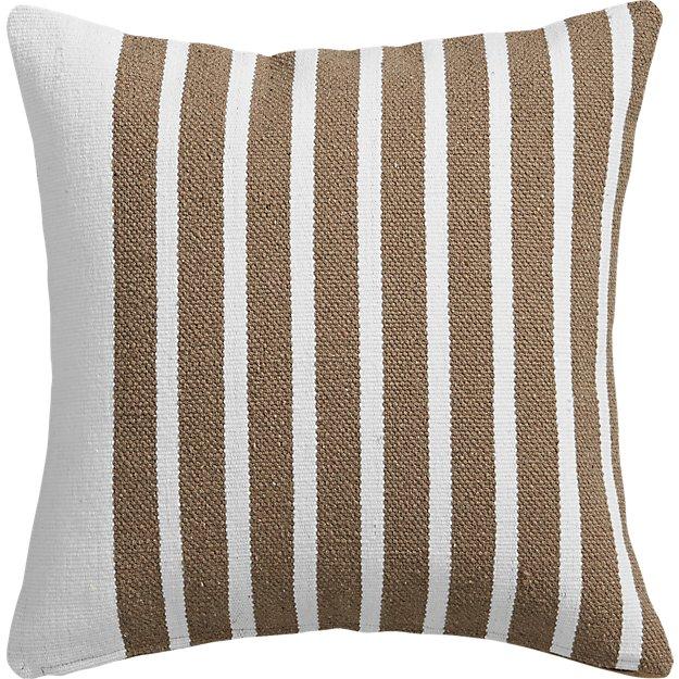 "division white/natural 20"" pillow"