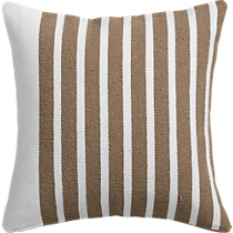 """division white/natural 20"""" pillow with down-alternative insert"""
