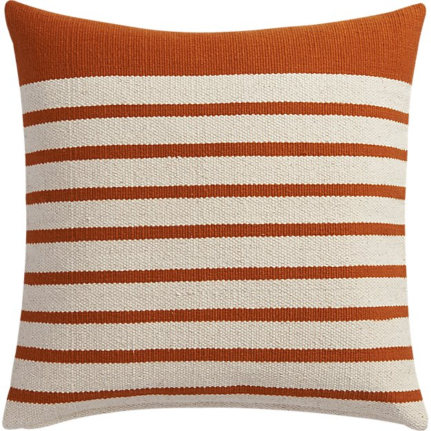 "division rust 20"" pillow"