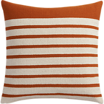 """division rust 20"""" pillow with down-alternative insert"""