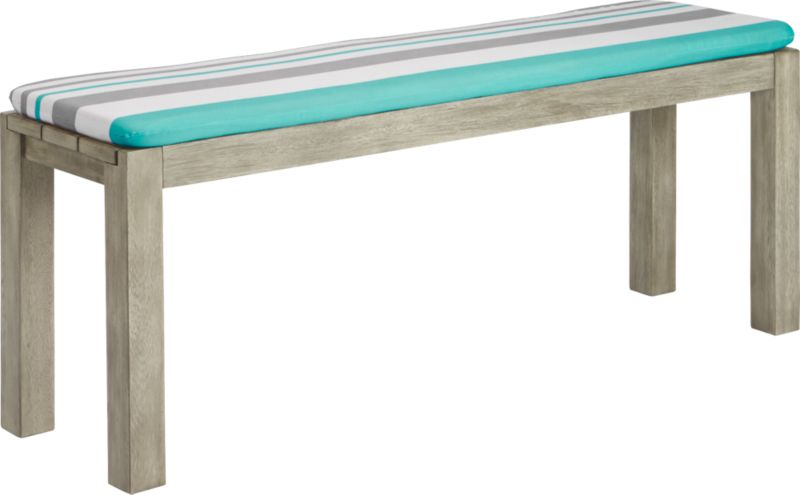 dockside bench with augustan stripe bench cushion