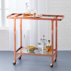 dolce vita rose gold bar cart
