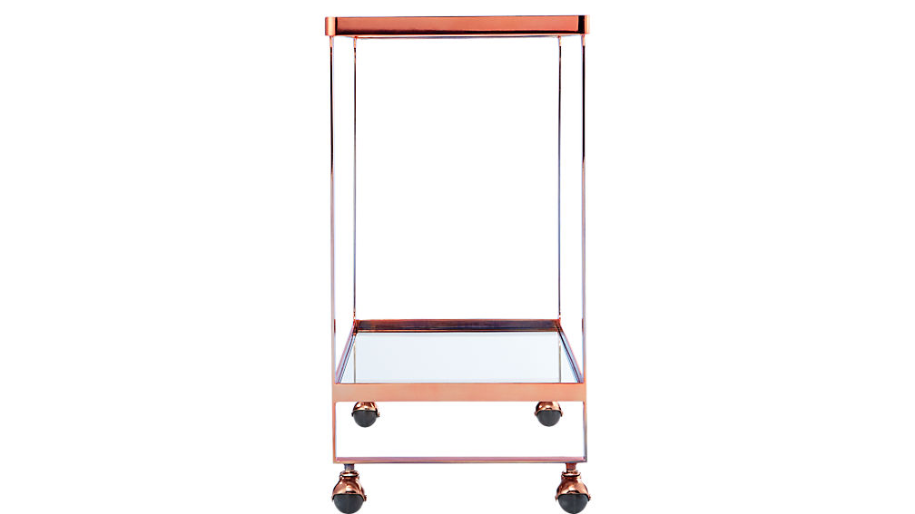 dolce vita copper bar cart