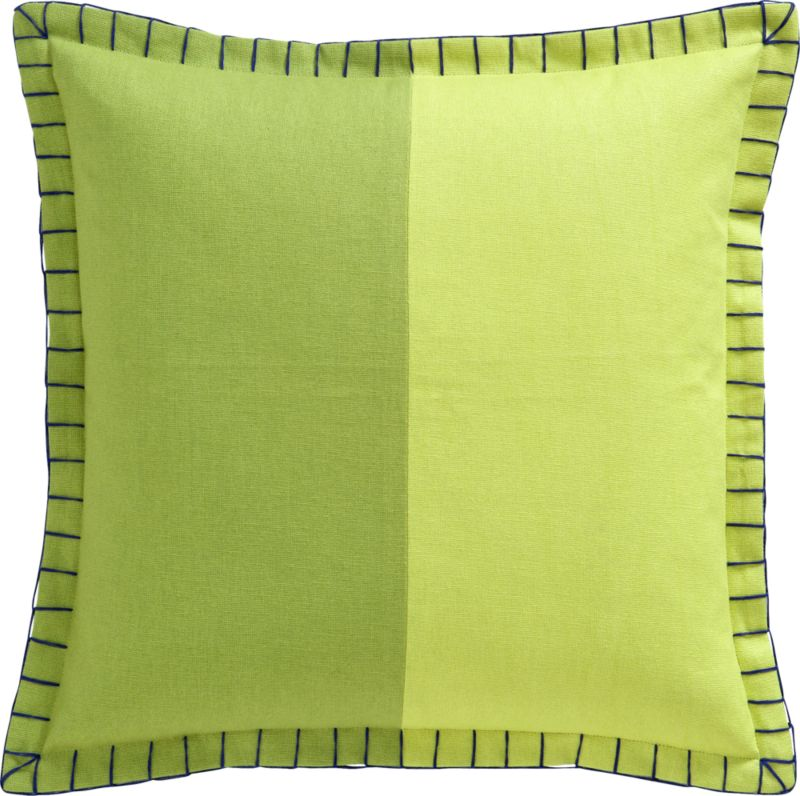 "dos chartreuse 20"" pillow"