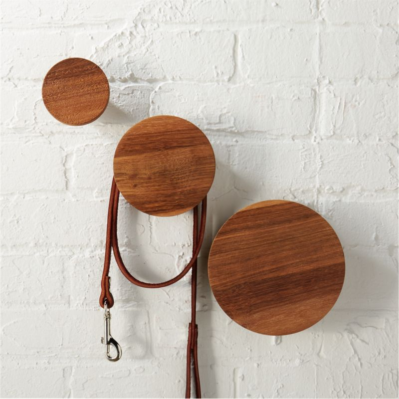dot coat hooks set of three