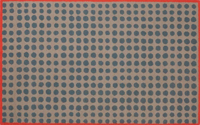 dot field rug 5'x8'