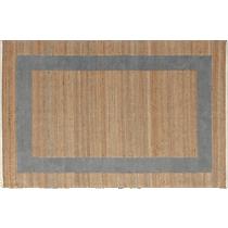double text grey rug